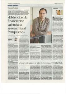El déficit de la financiación valenciana viene de lejos